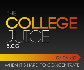 The College Juice Blog. Drink up when its hard to concentrate. Click to go to the College Juice dot com.